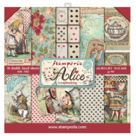 Stamperia 8x8 Paper Pad - Alice - SBBS01